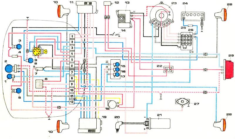 Схема электропроводки иж планета 5 12 вольт фото 56