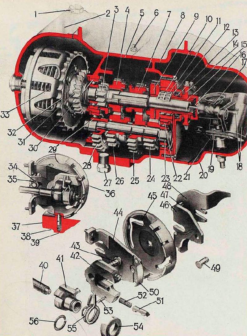 схема коробки передач двигатель 3l