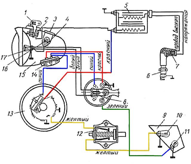 Замок мотоцикла схема